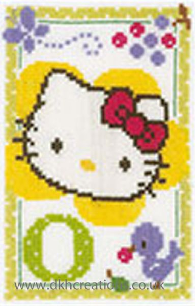 Hello Kitty Alphabet Letter O Cross Stitch Kit
